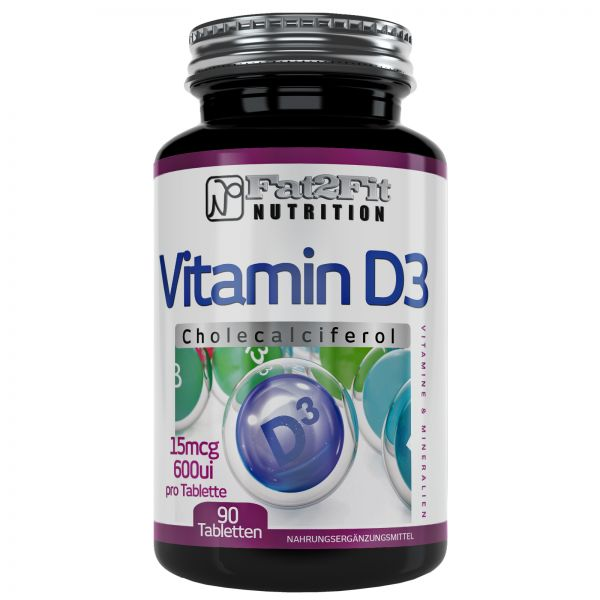 Vitamin D3 180 Tabletten je 15mcg(600ui)