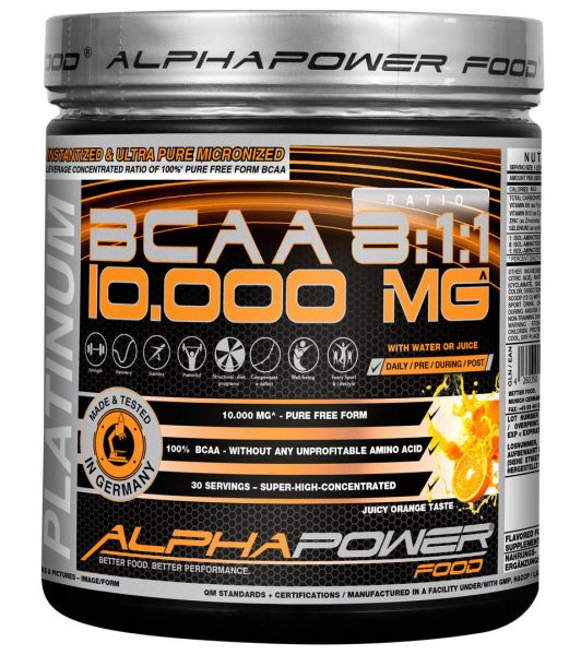 100% BCAA 8:1:1 390g Pulver juicy-orange